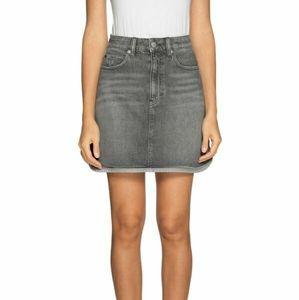 NWT Calvin Klein Gray Denim Mini Skirt 90s Plus
